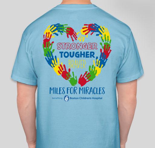Miles for Miracles 2021 Fundraiser - unisex shirt design - back