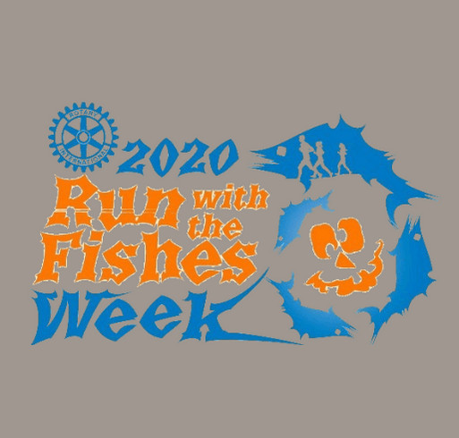 2020 Run With the Fishes Week shirt design - zoomed