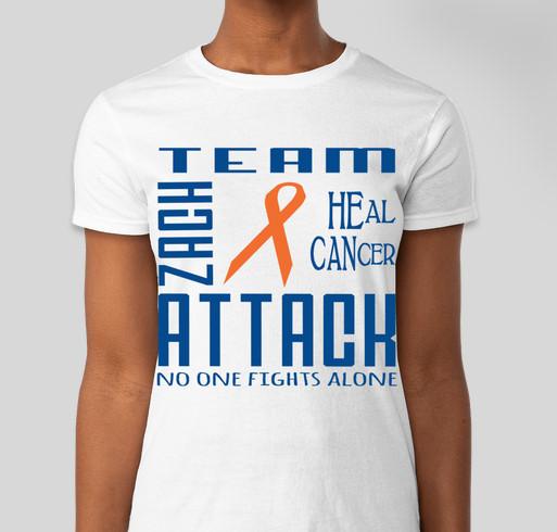 Team Zach Attack Fundraiser - unisex shirt design - front