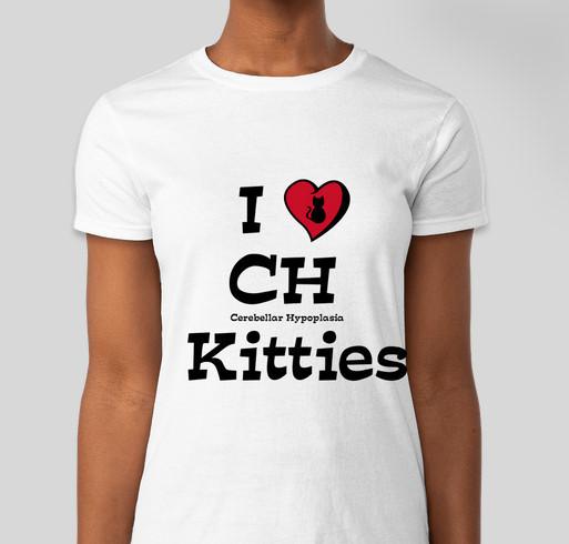 I Love Cerebellar Hypoplasia Kitties Fundraiser - unisex shirt design - front