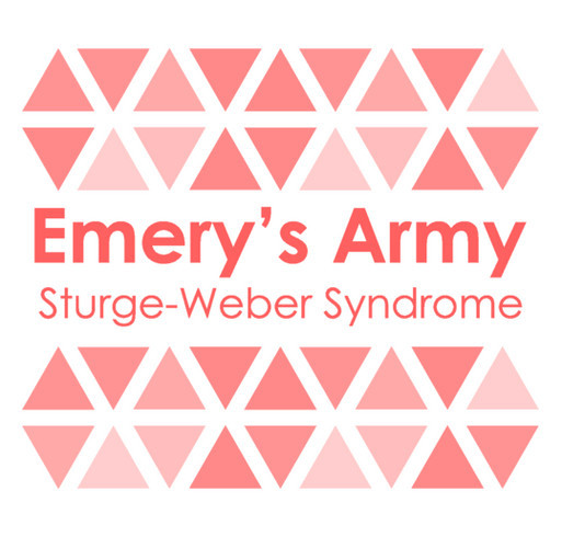 Emery's Army: Sturge-Weber Awareness shirt design - zoomed