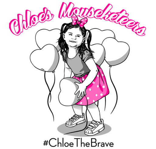 Chloe's Mousketeers for PDX Light The Night Walk shirt design - zoomed