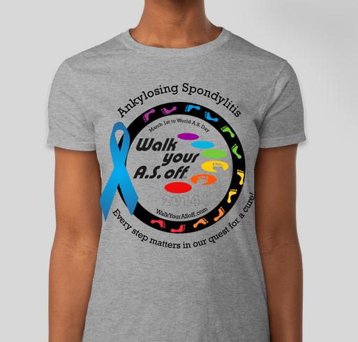 Walk Your A.S. Off 2014 - Official Booster T-Shirt Fundraiser - unisex shirt design - front