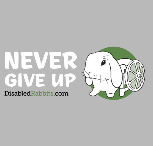 DisabledRabbits.com shirt design - zoomed