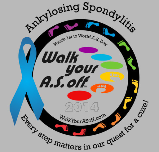 Walk Your A.S. Off 2014 - Official Booster T-Shirt shirt design - zoomed