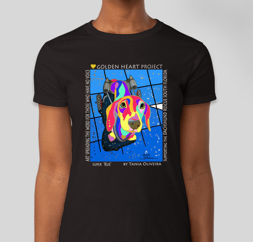 Golden Heart Project - Dachshund Rescue South Florida Fundraiser - unisex shirt design - front