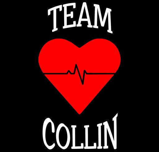 Team Collin shirt design - zoomed