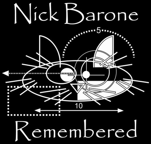 Nick Barone Remembered shirt design - zoomed