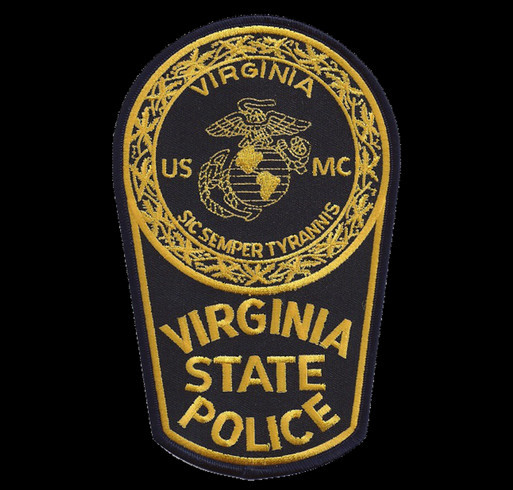 Memorial shirt for Virginia State Trooper Chad Dermyer, all proceeds go to his wife and children shirt design - zoomed
