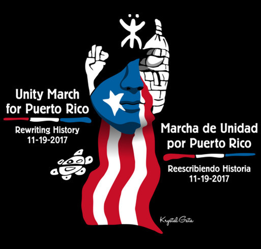 Unity March for Puerto Rico shirt design - zoomed