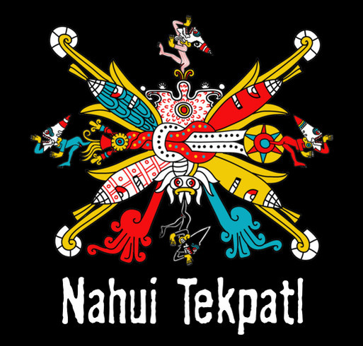 Celebrate Mexica New year with a Nahui Tekpatl t-shirt. Celebra el Añ0 Nuevo Mexica con una camisa! shirt design - zoomed