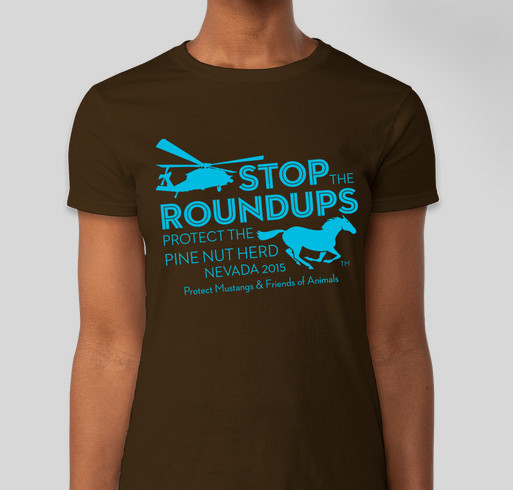 Protect Pine Nut Wild Horses Fundraiser - unisex shirt design - front