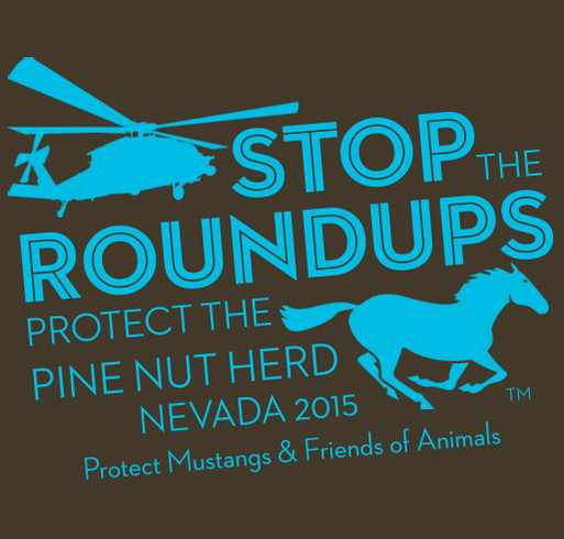 Protect Pine Nut Wild Horses shirt design - zoomed