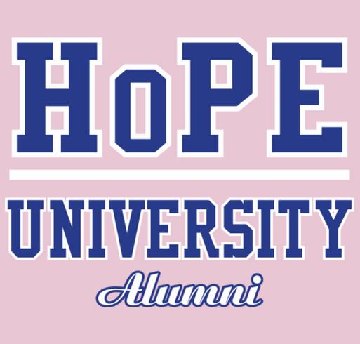 HoPE University shirt design - zoomed