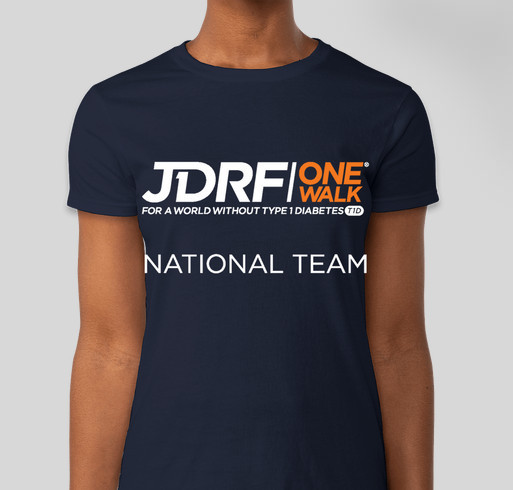 Jdrf national walk team custom ink fundraising for Jdrf one walk t shirts