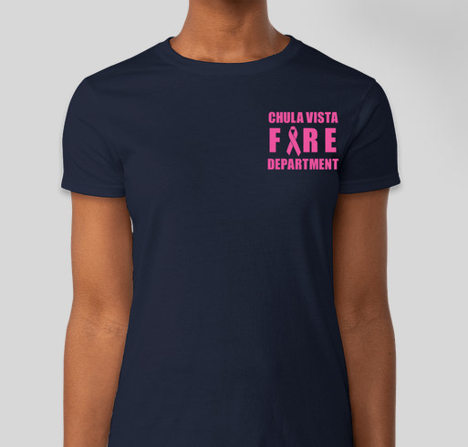 Chula Vista Firefighters Are Passionately Pink® in October Fundraiser - unisex shirt design - front