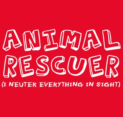 Animal Rescuer shirt design - zoomed