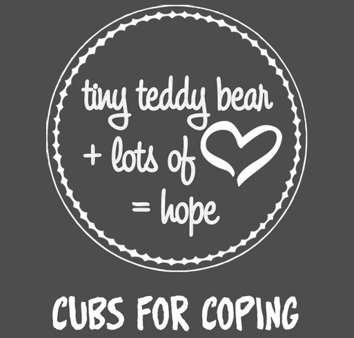 Cubs for Coping T-Shirt Fundraiser shirt design - zoomed