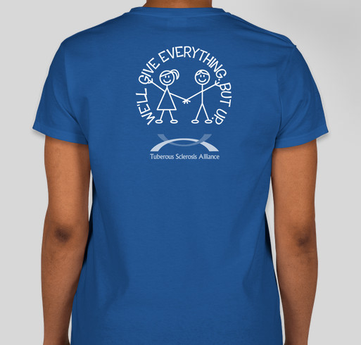 Step Forward to Cure TSC Fundraiser - unisex shirt design - back