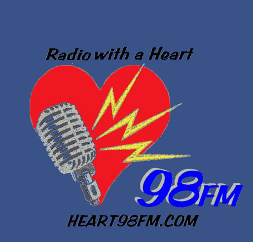Heart98FM Equipment Fund Raiser shirt design - zoomed
