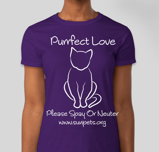 """Purrfect Love"" T-Shirt Fundraiser Fundraiser - unisex shirt design - front"