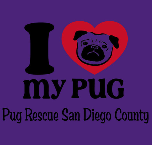 Pug rescue of san diego county custom ink fundraising for Raised ink san diego