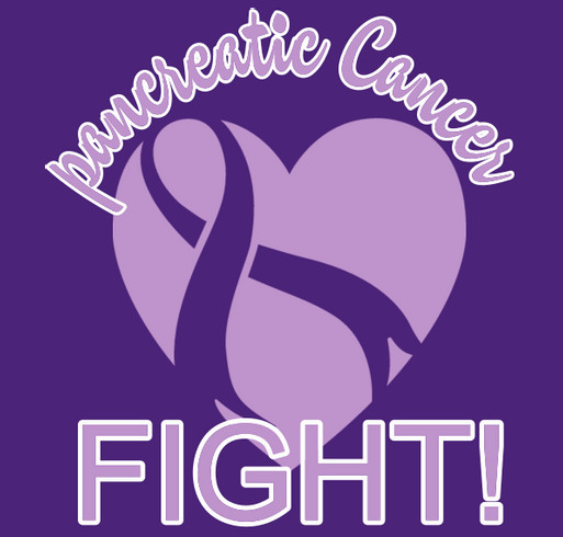 The pancreatic cancer awareness fund shirt design - zoomed