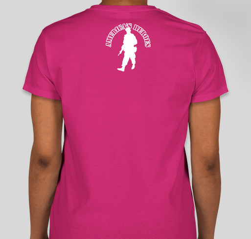 Wounded Warriors Girl Code Fundraiser - unisex shirt design - back