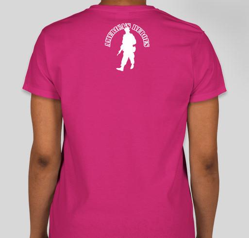 Wounded Warriors Girl Code Fundraiser - unisex shirt design - back