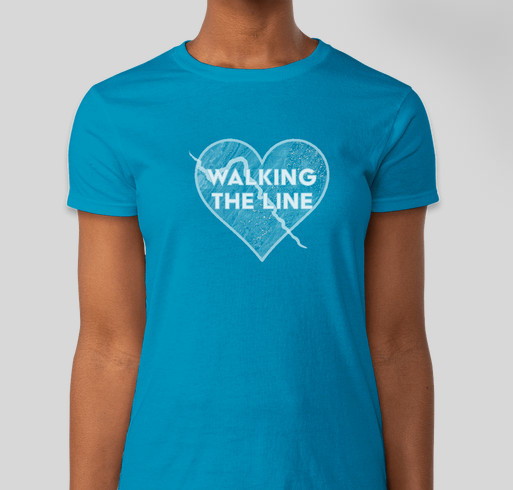 Walking the Line into the Heart of Virginia ... June 17 to July 2, 2017 Fundraiser - unisex shirt design - front