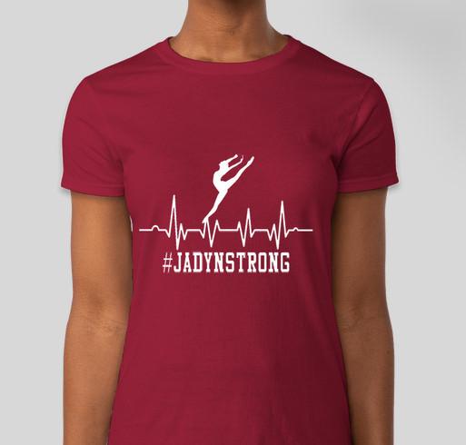 #JadynStrong Fundraiser - unisex shirt design - front