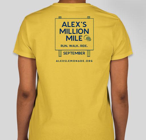 The Official Alex's Million Mile T-shirt Campaign Fundraiser - unisex shirt design - back