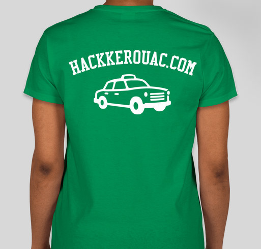 Hack Kerouac's Cross Country Fundraiser Fundraiser - unisex shirt design - back