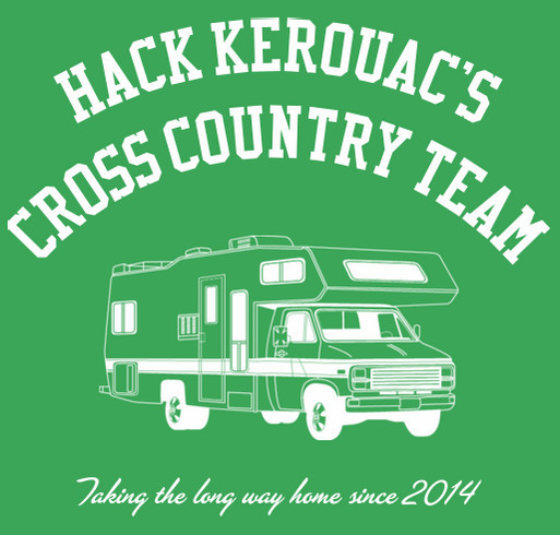 Hack Kerouac's Cross Country Fundraiser shirt design - zoomed