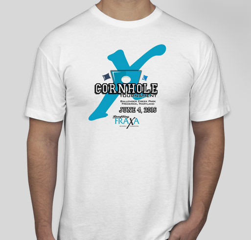 9b0606ec1 FRAXA Cornhole Tournament T-Shirt Fundraiser - unisex shirt design - front
