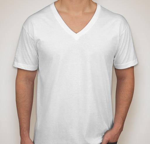 American Apparel Jersey V-Neck T-shirt - White