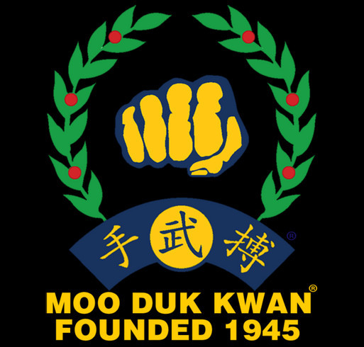 Unisex Gildan Full Zip Hoodie Screen Printed Front & Back Moo Duk Kwan® Fist Logo & Founded 1945 shirt design - zoomed