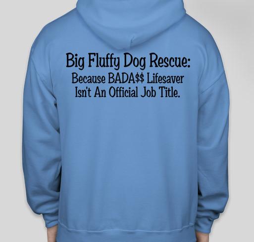 Big Fluffy Dog Rescue Fundraiser - unisex shirt design - back