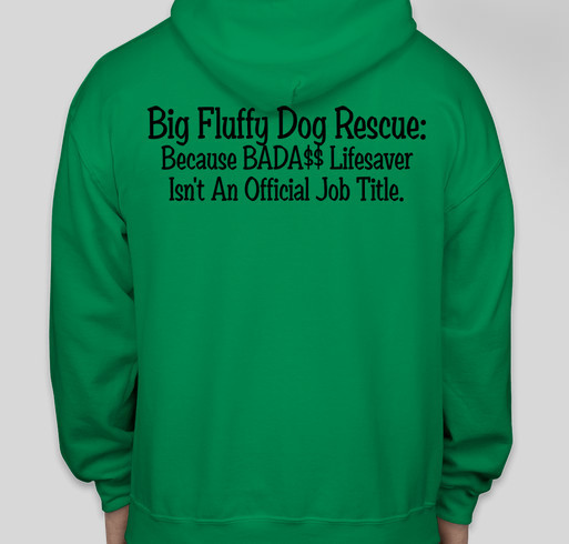 Big Fluffy Dog Rescue Fundraiser - unisex shirt design - back
