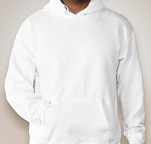 Hanes EcoSmart® 50/50 Hooded Sweatshirt - White