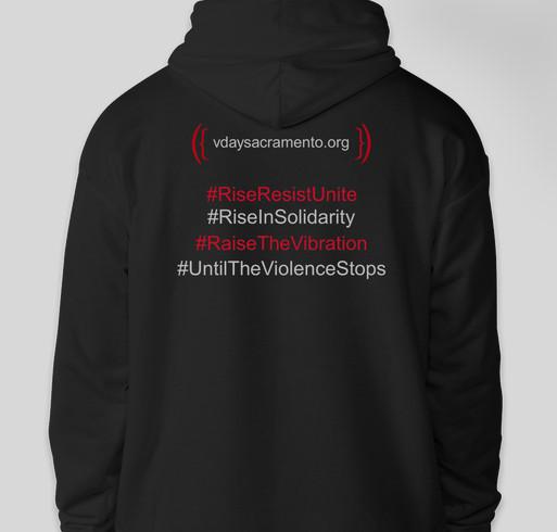 V-Day Symbol Pullover Hoodie Fundraiser - unisex shirt design - back