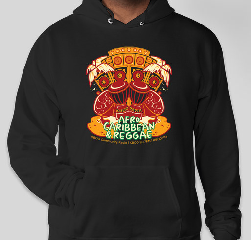 KBOO Afro Caribbean & Reggae Limited Edition Hoodie Fundraiser - unisex shirt design - front