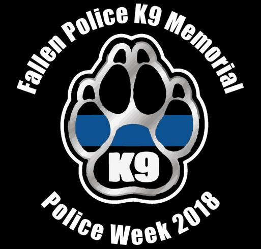 1st Annual Fallen Police K9 Memorial shirt design - zoomed