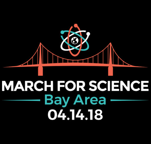 March for Science Bay Area 2018 shirt design - zoomed