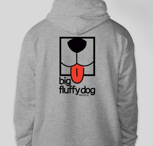 Big Fluffy Dog Rescue Logo Hoodies Fundraiser - unisex shirt design - back