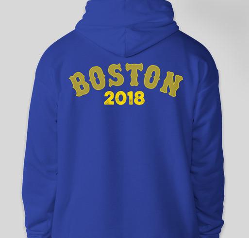 Dashing Whippets 2016 Boston Hoodie Fundraiser - unisex shirt design - back