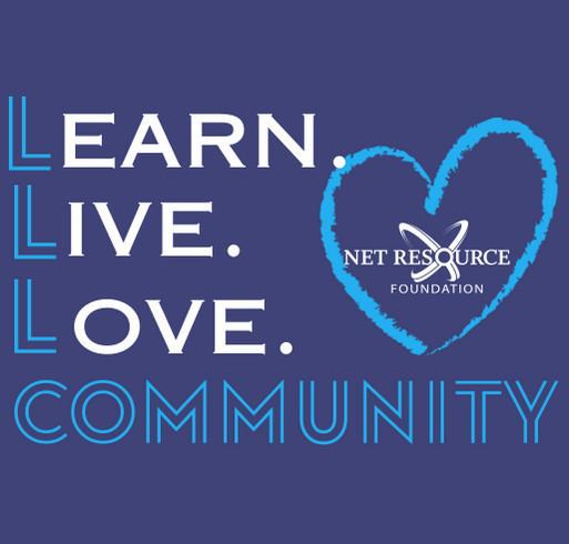 Net Resource Foundation Fundraiser shirt design - zoomed