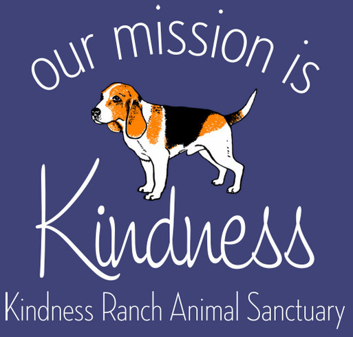 Kindness Ranch Veterinary Fund shirt design - zoomed