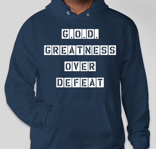 Greatness Over Defeat Fundraiser - unisex shirt design - front