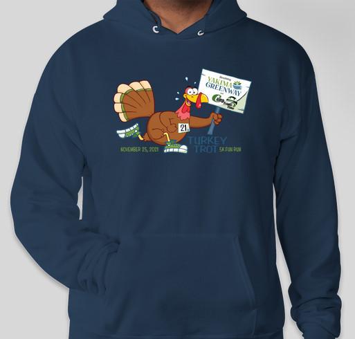 12th Annual Turkey Trot Fun Run/Walk 5K Fundraiser - unisex shirt design - front